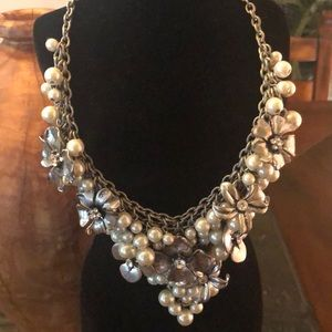 Adena Accents Flower and Pearl Necklace ... bd09f8055df16